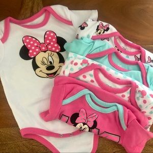 Set of 5 Minnie Onesies